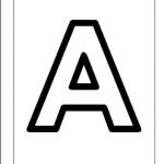 اوراق عمل الحروف الانجليزية للاطفال letter A