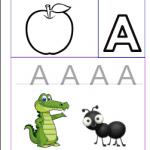 تعليم كتابة الحروف الأنجليزية letter A