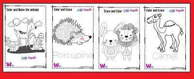 اسماء الحيوانات بالانجليزي مع الصور للاطفال حمل مجانا كتاب 100 صفحة تعلم اسماء الحيوانات باللغة الانجليزية للأطفال والتلوين والرسم كتاب ممتع