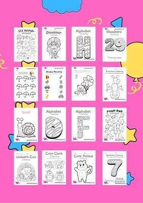 حمل مجانا كتاب تلوين 200 صفحة للاطفال مناسب للتسلية في الاجازة وتنمية مهارات الاطفال في موضوعات منوعة ومختلفة من الحي